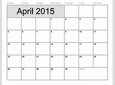 To Fill In Blank Monthly Calendar Template 2015 Free Calendar Template