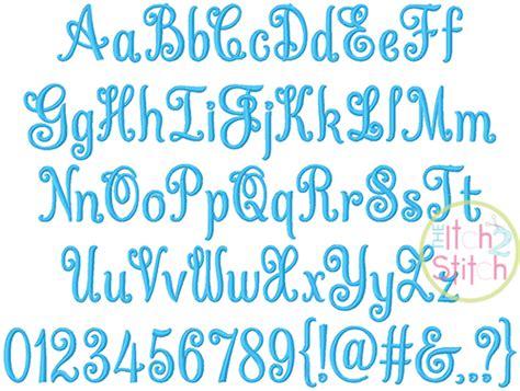 curtsy alphabet embroidery font  itch  stitch