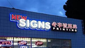 new signs printing led channel letter signs With channel letter sign cost