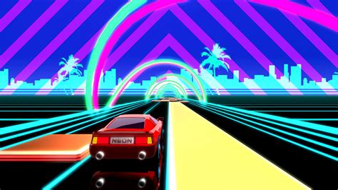 80s Neon Car Wallpaper by Neon Drive 80s Arcade A By Fraoula