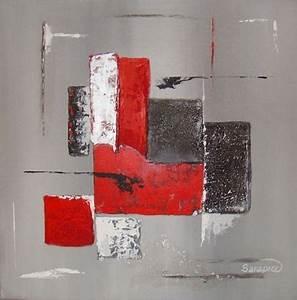 au fil des creations rouge et abstrait les pinceaux With peindre a l imperatif