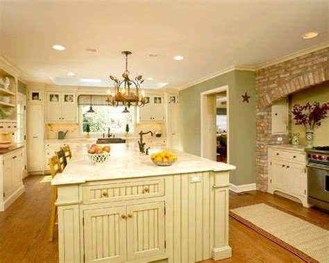 rustic green kitchen cabinets country paint colors color ideas interior shades of yellow