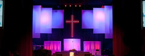 traditional  modern church stage design ideas