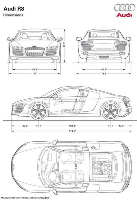 typical dimensions of a car auto review audi r8 the genes of a winner audi r8 video photos