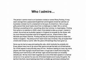 the person i admire the most essay