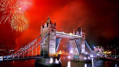 London Fireworks Tower Bridge Backiee Landscape Wallpapers