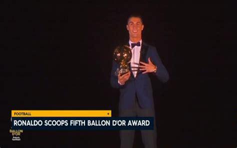 Ronaldo Equals Messi's Record Haul Of 5 Ballon d'Or