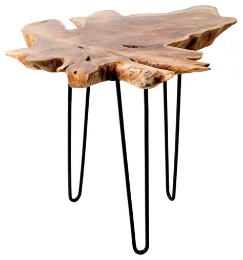 teak root accent table large side tables   tables