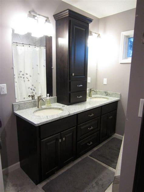 Bathroom Vanity Countertop Cabinet by Interior Black Bathroom Decoration Using Black Wood