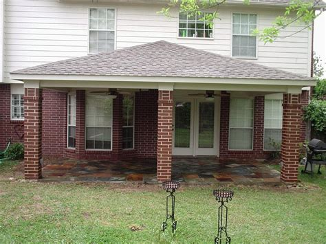 hip roof patio cover everhart construction