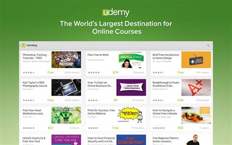 new app udemy brings the go learning to android just make sure you bring your wallet