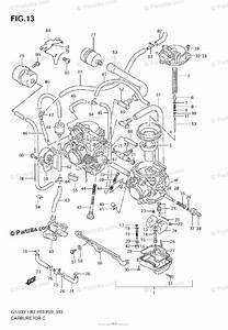 Suzuki Motorcycle 2009 Oem Parts Diagram For Carburetor