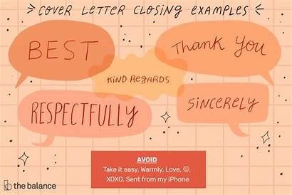 Letter Closing Ending Examples Regards Close End