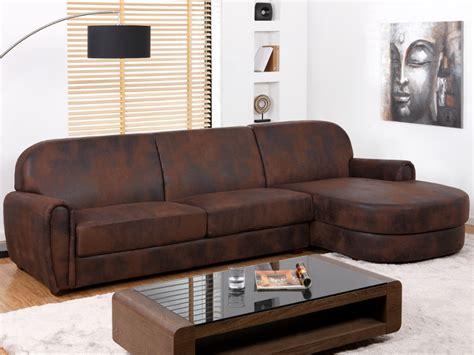 canapé d angle cuir vieilli marron canapé d 39 angle microfibre aspect cuir vieilli victory ii