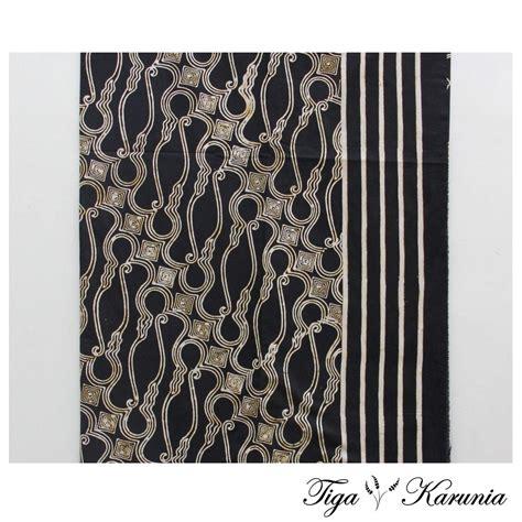 jual kain batik cap solo hitam putih motif parang besar