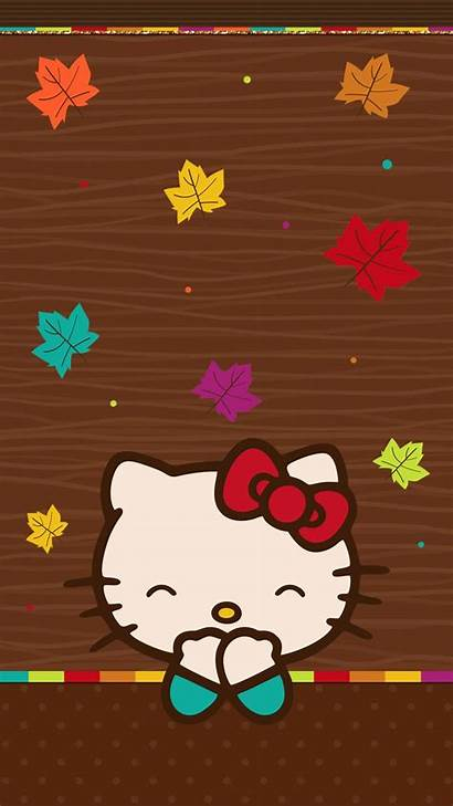 Hello Kitty Fall Backgrounds Wallpapers Merah Iphone