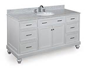 amelia 60 inch single sink bathroom vanity carrara white