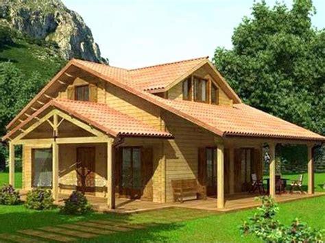 ranch house with wrap around porch casa de madera vitoria 125m2 casa prefabricada rustica