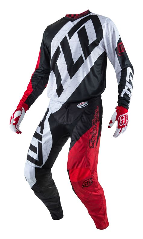 motocross gear 2017 troy lee designs quest red white black kids tld gp