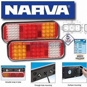 2 X 94210 Narva Led Combination Tail Lights Trailer Tail