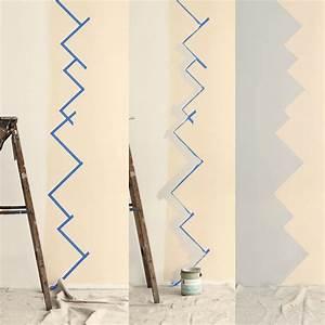 Farben Für Die Wand : schritt f r schritt die wand in zwei farben gestalten wandgestaltung pinterest ~ Michelbontemps.com Haus und Dekorationen