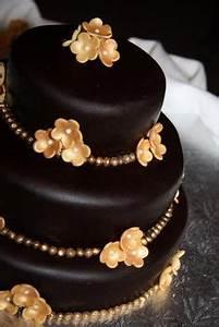 Dark Chocolate Wedding Cake