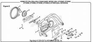 Homelite Ut10580 18 In  42cc Chain Saw Parts Diagram For