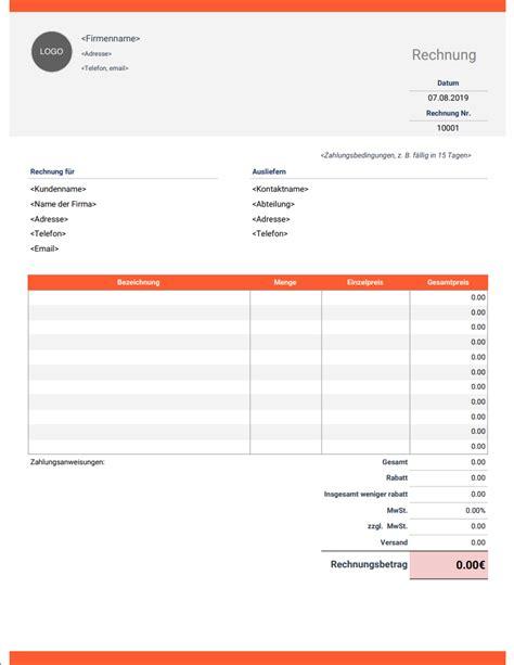 rasenmä auf rechnung rechnungsvorlage word gratis invoice simple