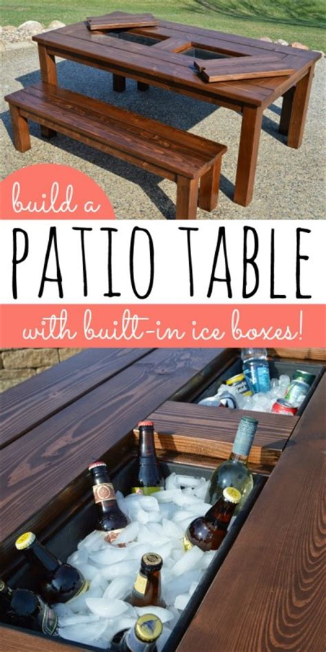 remodelaholic build a patio table with built in
