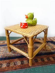 Table Basse Rotin : table basse rotin vintage brocnshop ~ Teatrodelosmanantiales.com Idées de Décoration