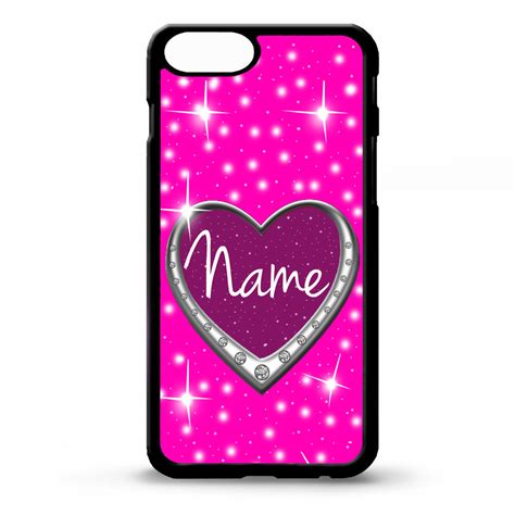 Love heart pink girly pretty cute custom art personalised