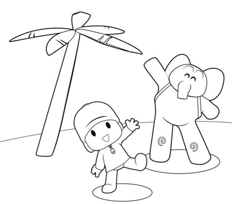 coloring pages free printable pocoyo coloring pages for