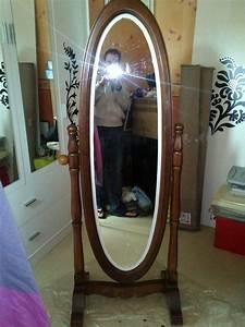 Miroir Sur Pied Blanc : custom miroir sur pieds ovale du neuf avec du vieux l 39 art de r nover ~ Teatrodelosmanantiales.com Idées de Décoration