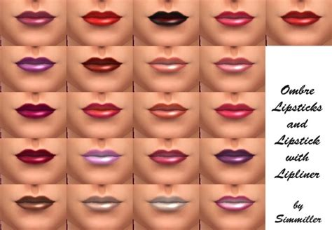 new shades make lip 21 new shades of lipstick by simmiller at mod the sims