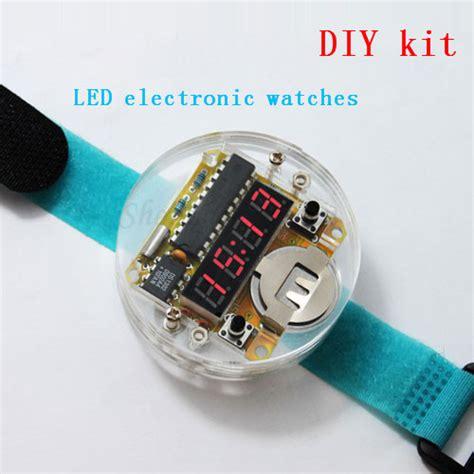 led l kit suppliers 4 bits digital diy kit led digital electronic clock kit microcontroller mcu diy