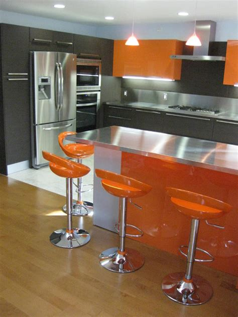 lighting for kitchens orange gloss kitchen designs contemporary kitchen 3773