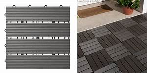 10 dalles composites gris clipsables fsc 30x30 oogarden With dalles clipsables pour terrasse