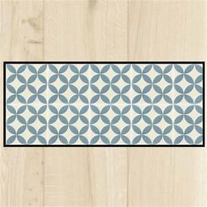 Tapis Cuisine Carreaux De Ciment : tapis cuisine carreaux ciment bleu ~ Dailycaller-alerts.com Idées de Décoration