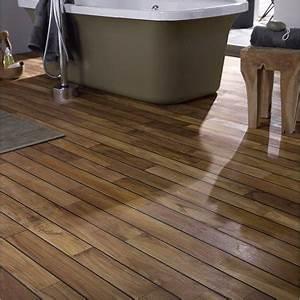 Un parquet pour salle de bain pont de bateau leroy merlin for Parquet pour bateau