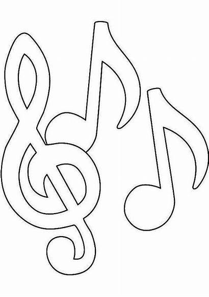 Notes Coloring Pages Note Printable Song Clipart