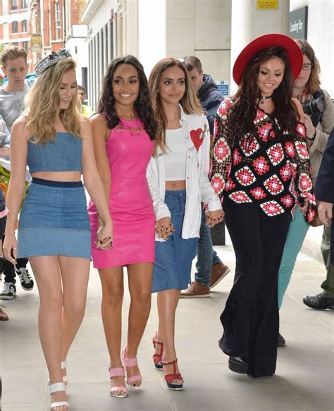 LITTLE MIX Arrives at BBC Radio 1 Studios in London 07/28 ...