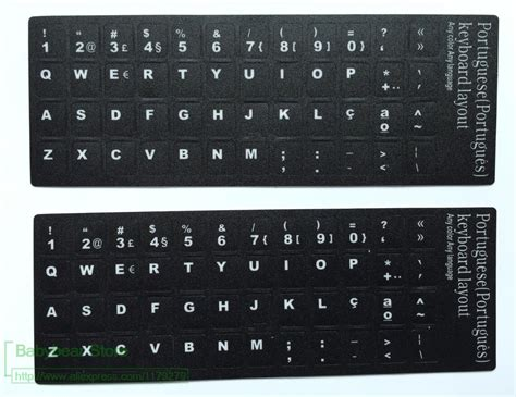 50pcs/lot Keyboard Stickers Portuguese Alphabet Portugal