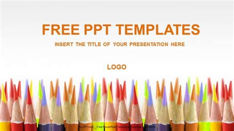 colored pencils education powerpoint templates