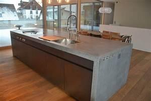 Arbeitsplatte Küche Beton : betonk che nonnast raum beton design ~ Watch28wear.com Haus und Dekorationen