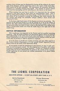 Need A Copy Of A Lionel Kw Transformer Manual