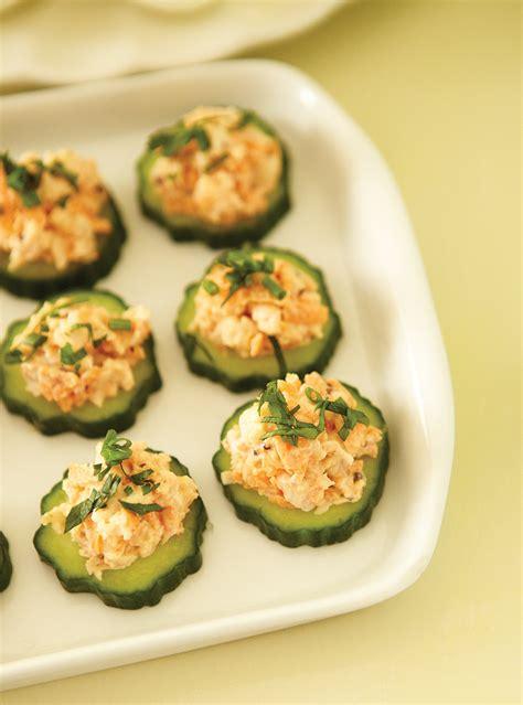 abonnement cuisine et vins de canapés de crevettes sur concombre ricardo