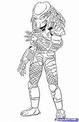 Draw Predator Coloring Predators Step Drawing Pages Alien Drawings Dragoart Mask Easy Avp Sketch Disney Frozen Elsa Preditor Predetor Predalien sketch template