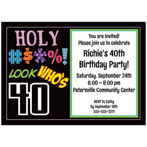 FREE Printable 40th Birthday Party Invitations Templates