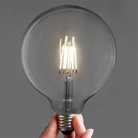 round led light bulbs edison retro style led bulbs large round g125 6w tudo