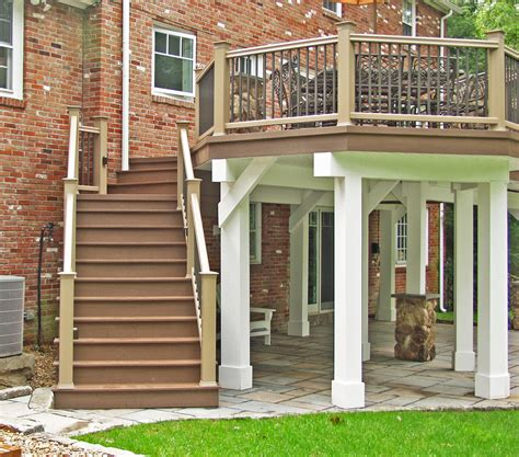 Deck Post Footings by What Is A Freestanding Deck And Why Would You Want One